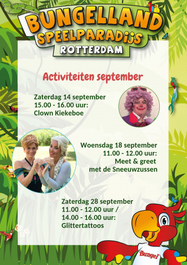 Activiteiten september in Bungelland